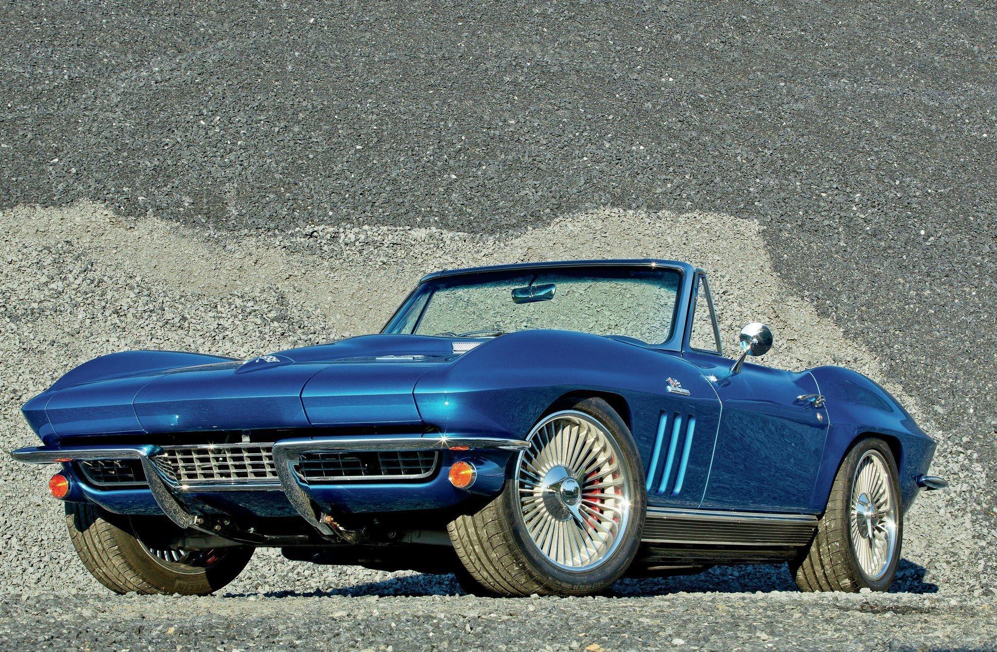 1966 Chevrolet Chevy Corvette Stingray Sting Ray Resto Mod Street Rod Usa 02 Wallpaper 2048x1340 710520 Wallpaperup