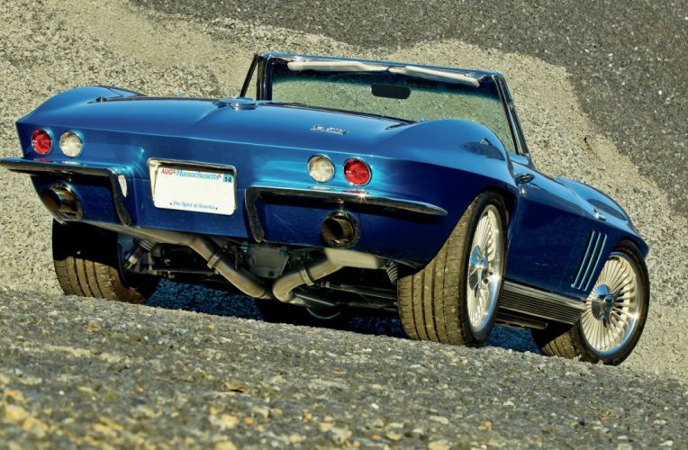 1966 Chevrolet Chevy Corvette Stingray Sting Ray Resto Mod Street Rod USA -03 wallpaper