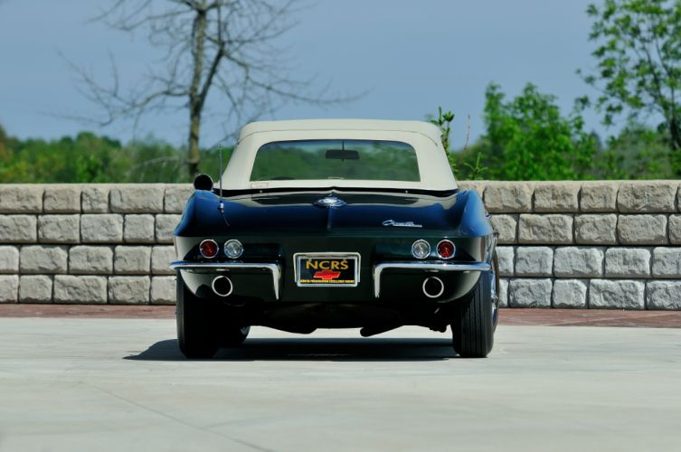 1965 Chevrolet Corvette Stingray Ating Ray Muscle Convertible Classic Old Original USA -39 wallpaper