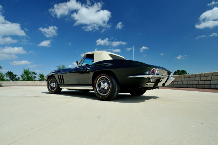 1965 Chevrolet Corvette Stingray Ating Ray Muscle Convertible Classic Old Original USA -42 wallpaper