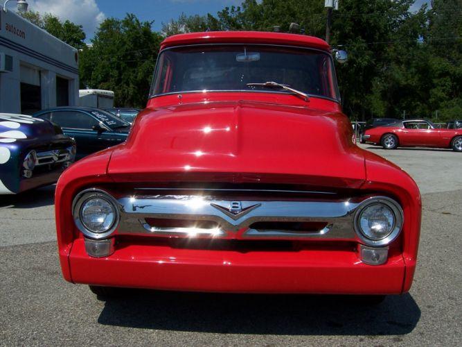 1956 Ford PickUp hot rod rods retro f wallpaper