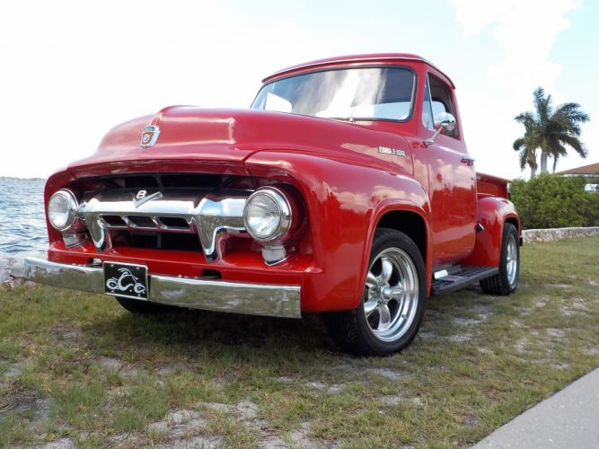 1954 Ford F-100 PickUp hot rod rods retro f wallpaper