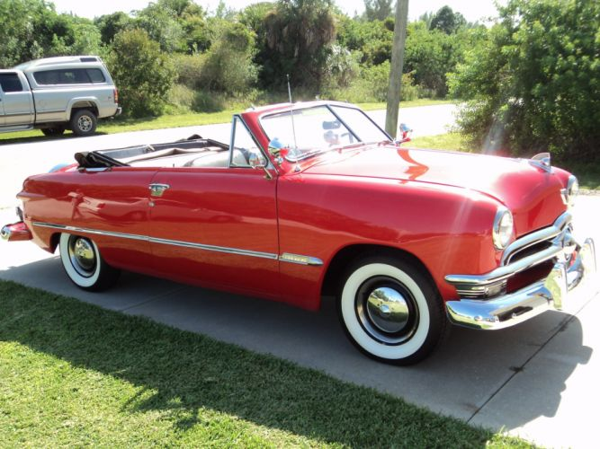 1950 Ford Convertible retro luxury d wallpaper