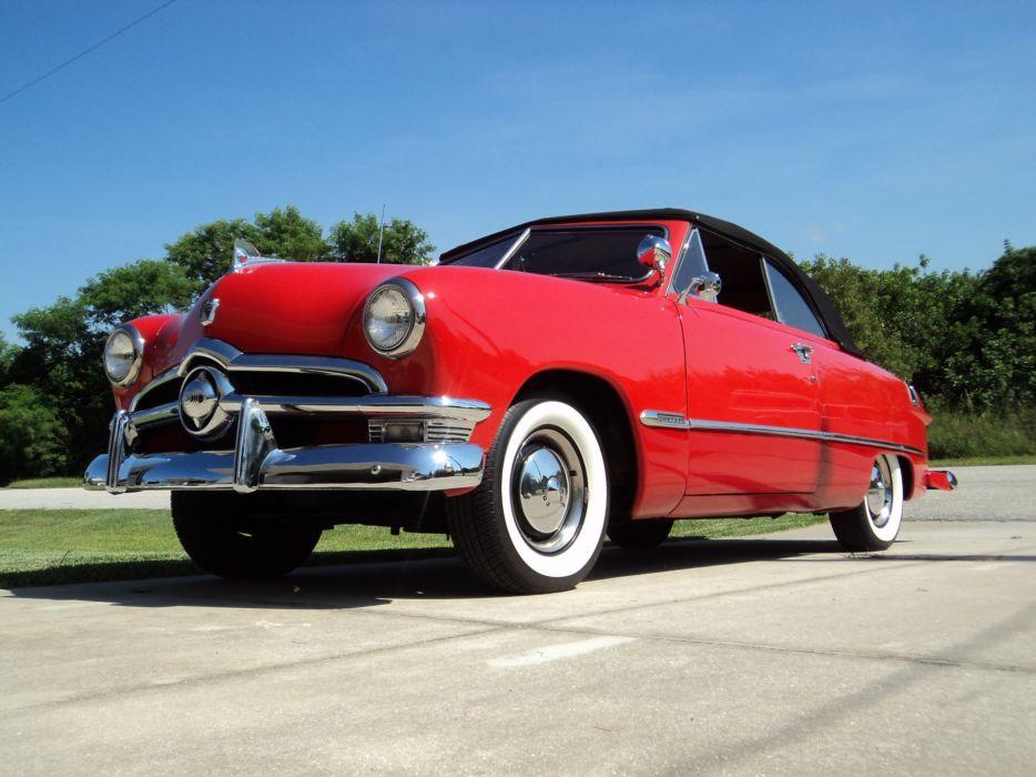 1950 Ford Convertible retro luxury d wallpaper