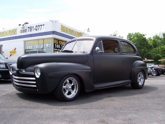 1947 Ford Two Door custom retro hot rod rods d wallpaper