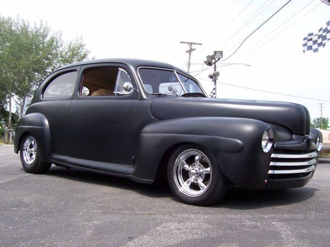1947 Ford Two Door custom retro hot rod rods d wallpaper