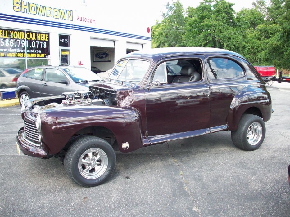 1947 FORD TWO DOOR SEDAN retro hot rod rods custom d wallpaper