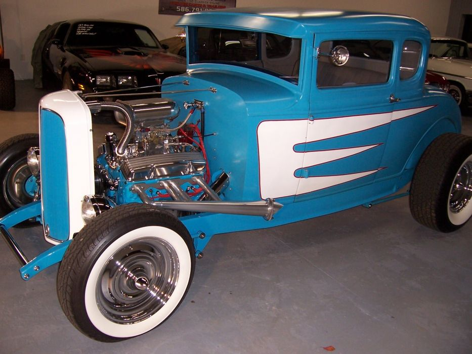1930 FORD FIVE WINDOW COUPE custom hot rod rods retro vintage f wallpaper