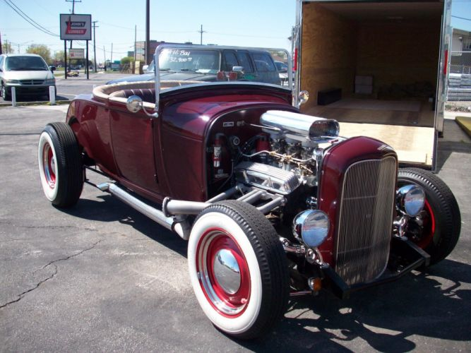 FORD HI-BOY ROADSTER custom retro hot rod rods d wallpaper