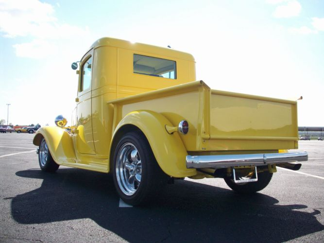 1934 CHEVROLET PICKUP hot rod rods custom vintage retro d wallpaper