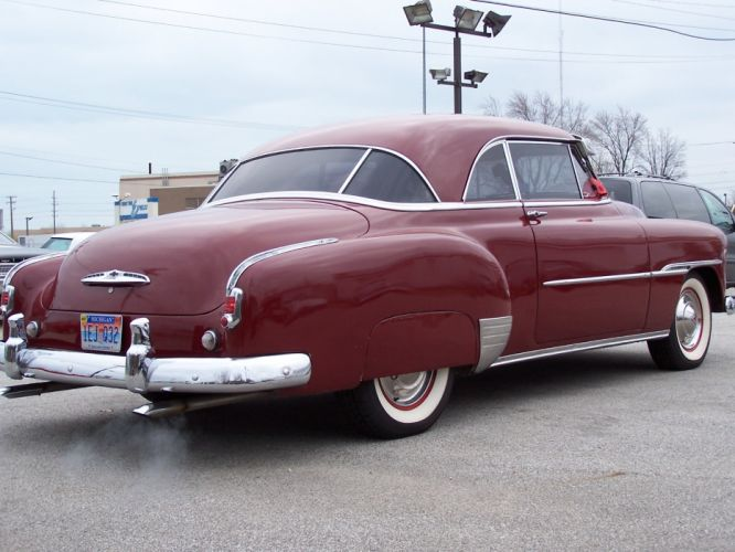 1951 Chevrolet Two Door Deluxe luxury retro d wallpaper