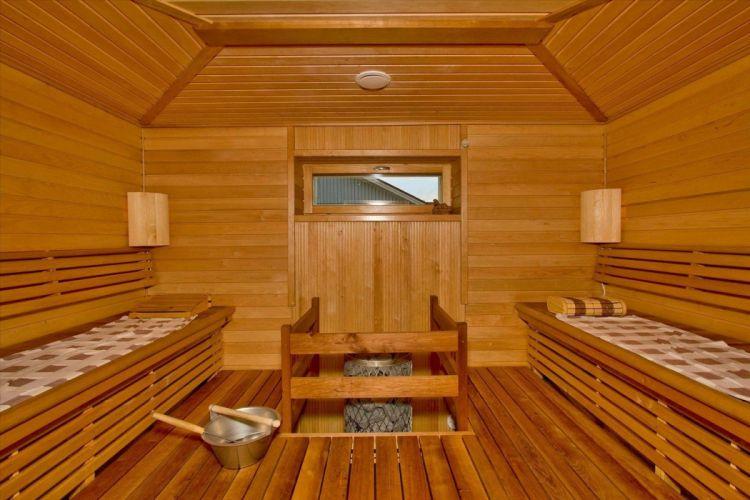 sauna interior maderas bancos wallpaper