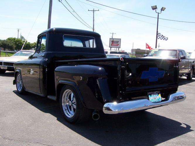 1957 Chevrolet 3100 Step Side hot rod rods custom retro pickup d wallpaper