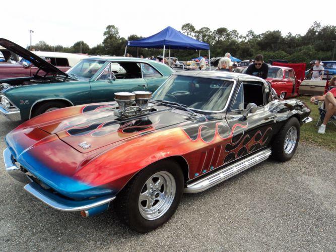 1964 Chevrolet Custom Corvette Coupe hot rod rods muscle classic d wallpaper