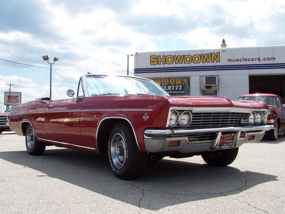 1966 Chevrolet Impala Convertible muscle classic d wallpaper