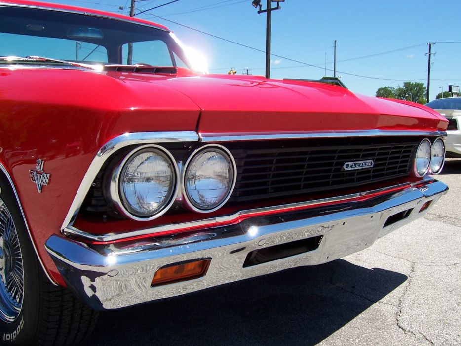 1966 Chevrolet El Camino pickup muscle classic d wallpaper