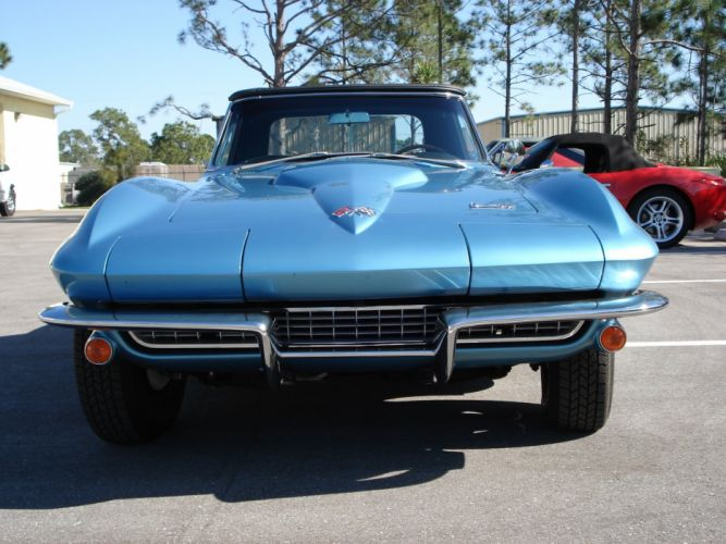 1966 Chevrolet Corvette Roadster supercar muscle classic d wallpaper
