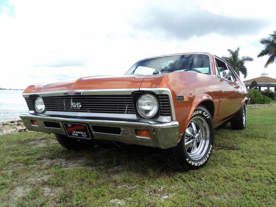 1969 Chevrolet Nova 396 muscle classic hot rod rods f wallpaper
