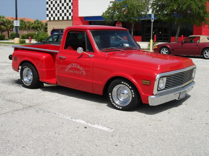 1969 Chevrolet Step Side PickUp classic hot rod rods d wallpaper
