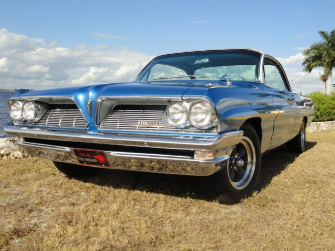 1961 Pontiac Bonneville Bubble Top muscle classic hot rod rods s wallpaper