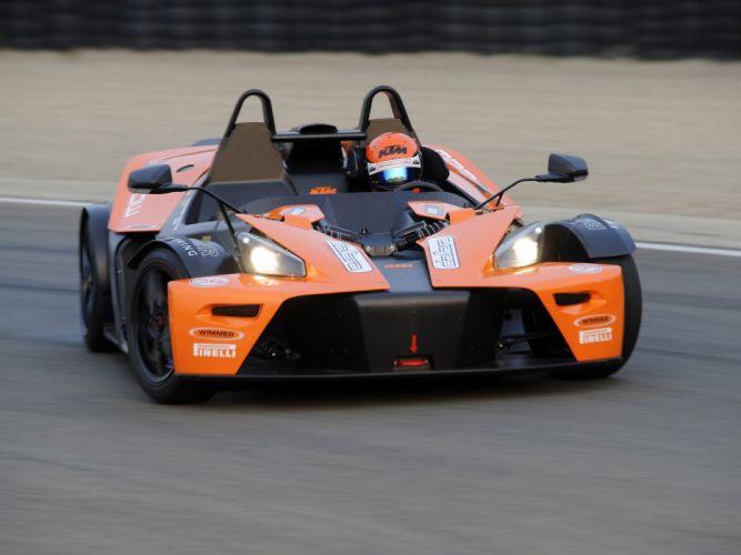 KTM X-Bow GT4 2008 cars orange wallpaper