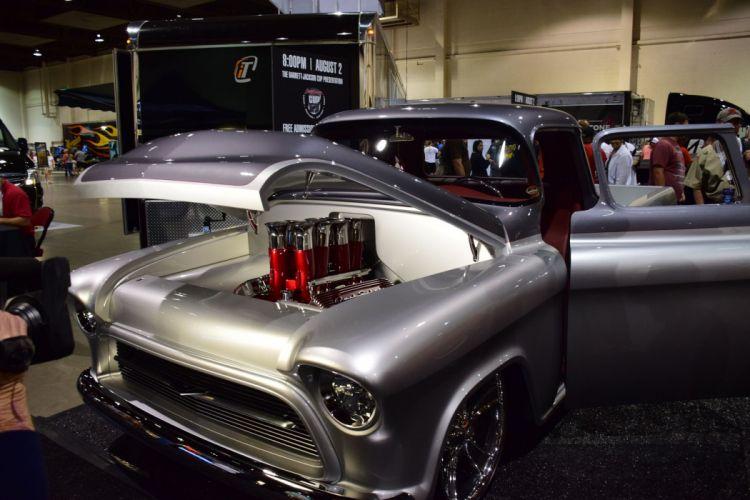 1957 Chevrolet pickup QuickSilver hot rod rods retro f wallpaper