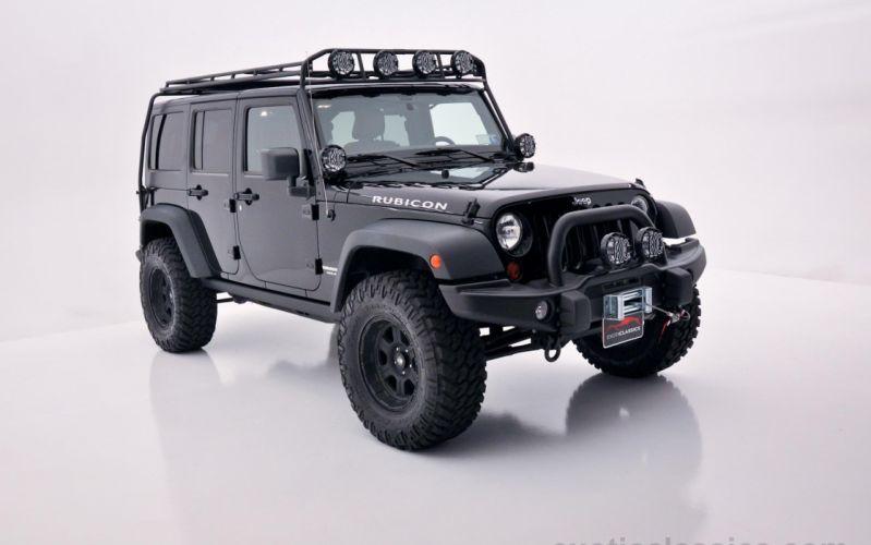 2011 Jeep Wrangler Unlimited Rubicon Black 4wd all road 4x4 cars wallpaper