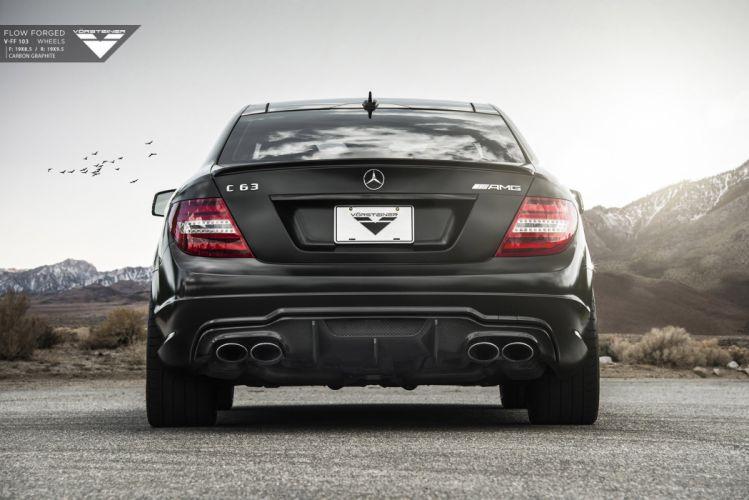 2015 Vorsteiner Mercedes Benz C63 AMG black modified wallpaper