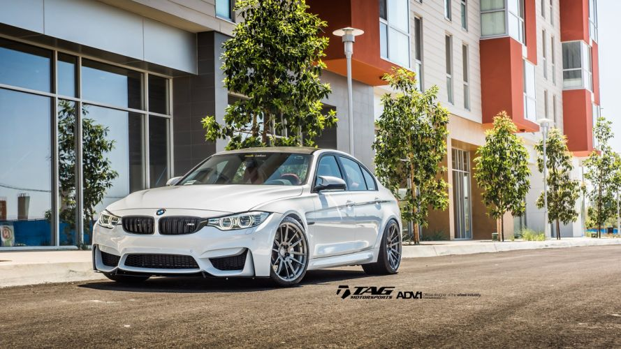 ADV 1 WHEELS BMW M3 F80 sedan white wallpaper