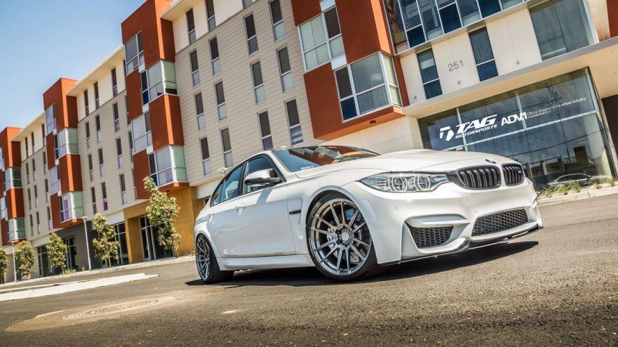 ADV 1 WHEELS BMW M3 F80 sedan white wallpaper