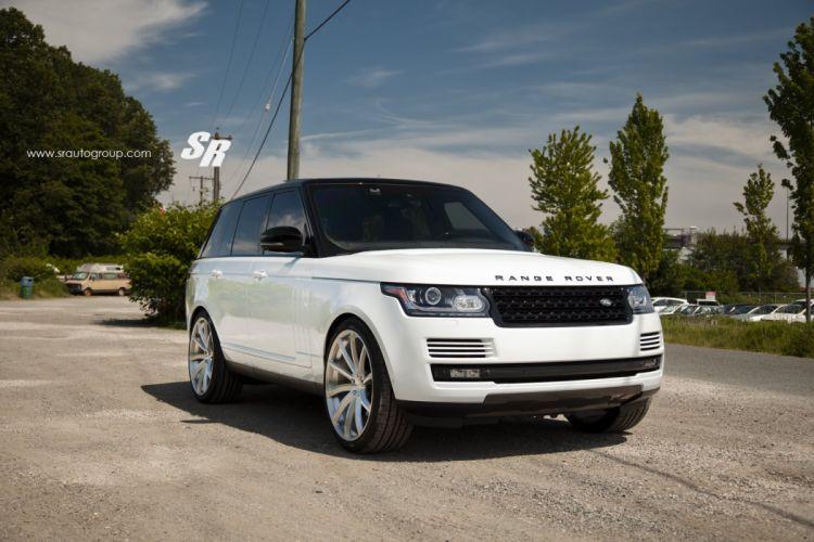 Range Rover Vogue pur wheels white suv cars wallpaper
