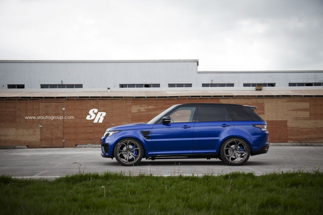 Range Rover SVR blue pur wheels cars suv wallpaper