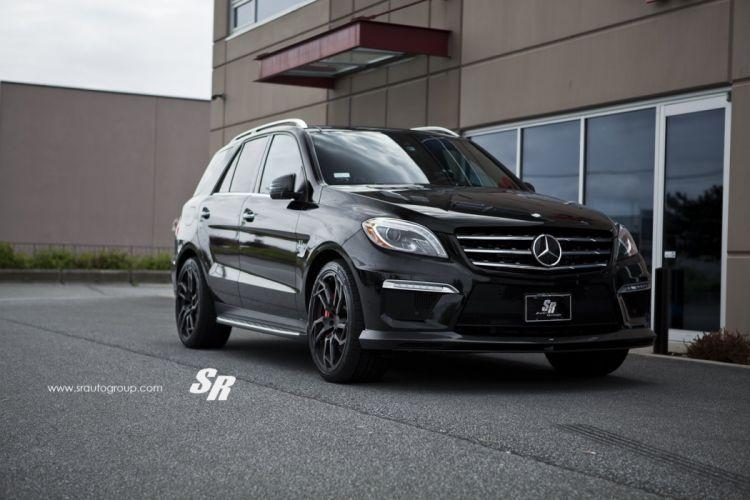 Mercedes ML63 AMG SUV BLACK pur wheels cars wallpaper