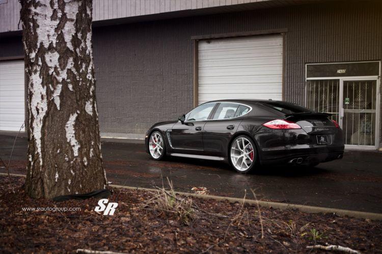 Porsche Panamera Turbo black pur wheels cars wallpaper