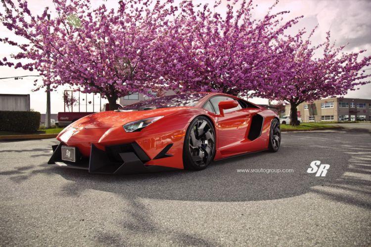 Lamborghini Aventador orange pur wheels cars wallpaper