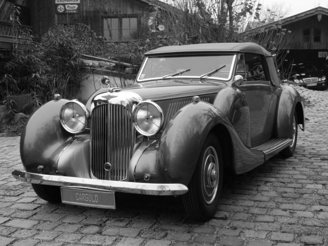 1939 LAGONDA V12 DROP HEAD COUPE reto luxury d wallpaper
