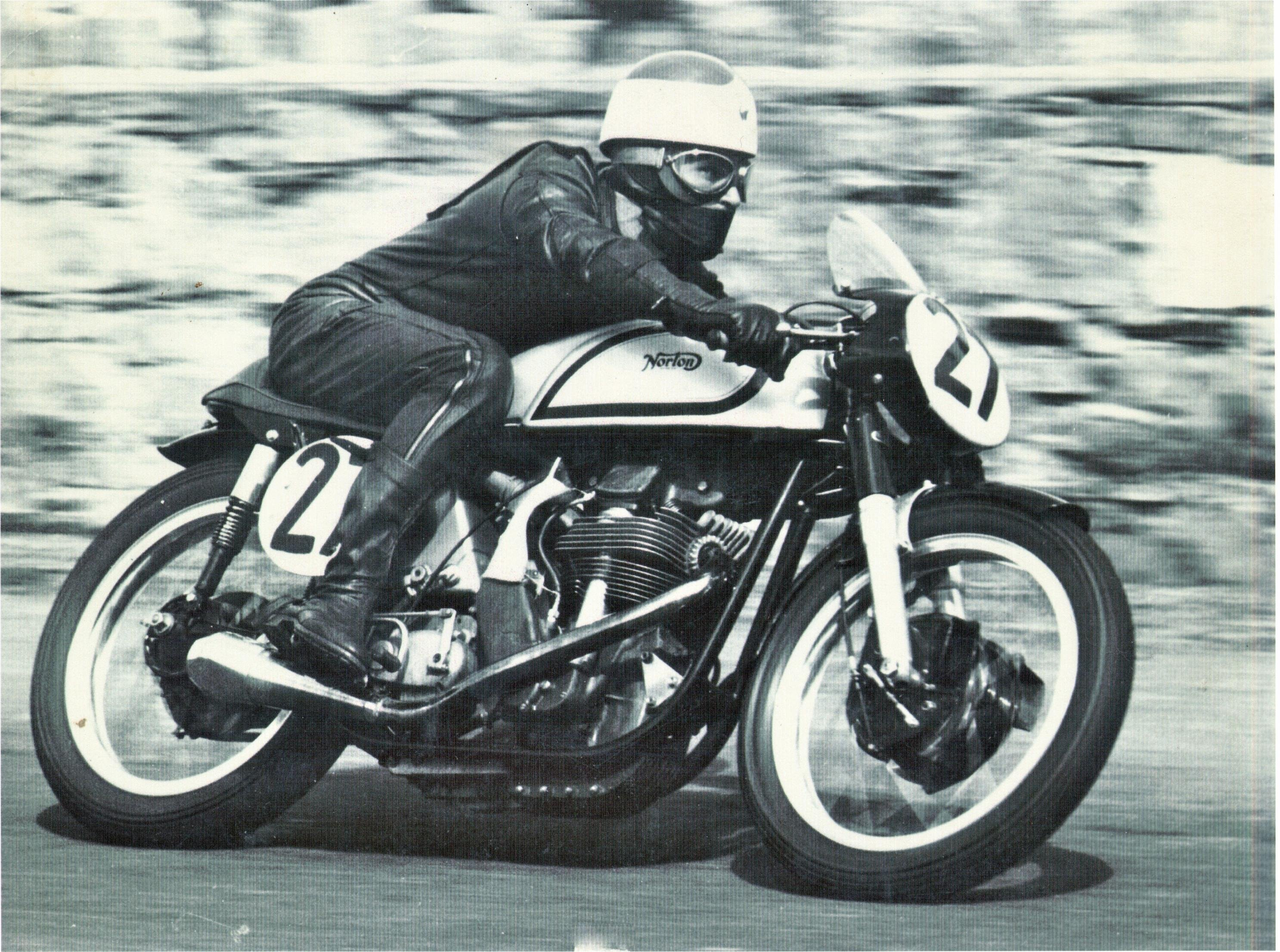 Remarkable, very vintage race motorcycle me, please