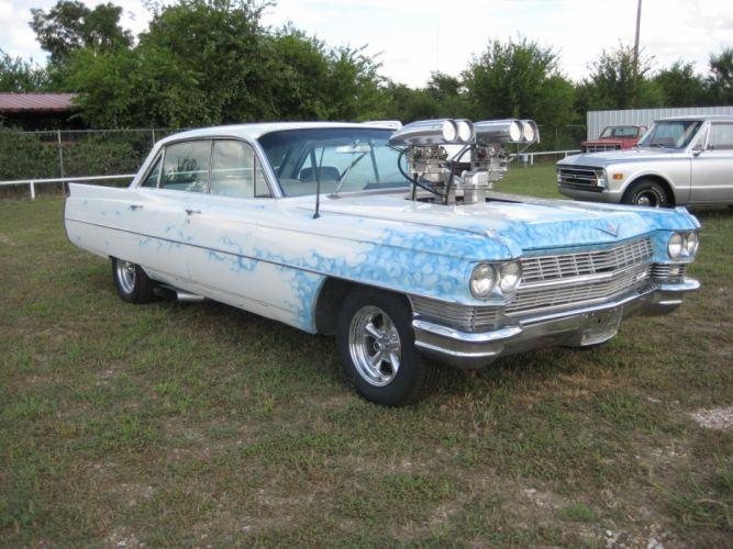 1964 Cadillac hot rod rods classic f wallpaper