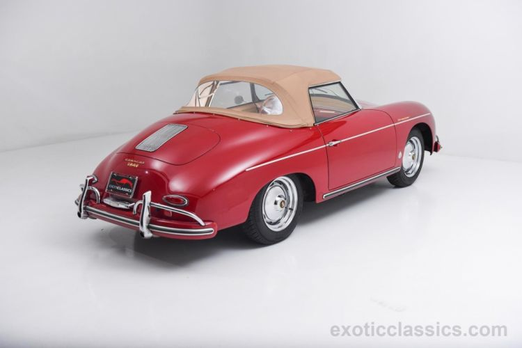 1958 Porsche 356-A Convertible super 1600 red cars classic wallpaper