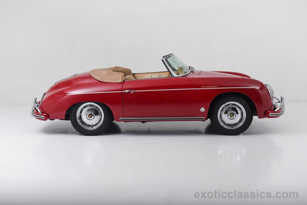 1958 Porsche 356-A Convertible super 1600 red cars classic wallpaper