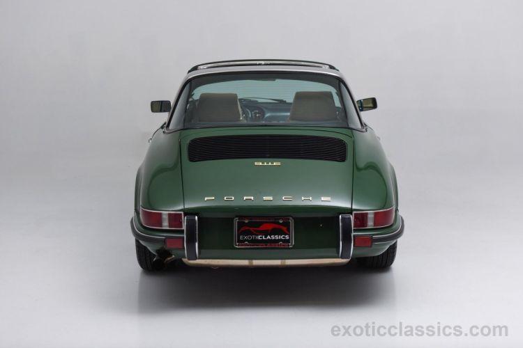 1969 Porsche 911-E Targa Irish Green cars classic wallpaper