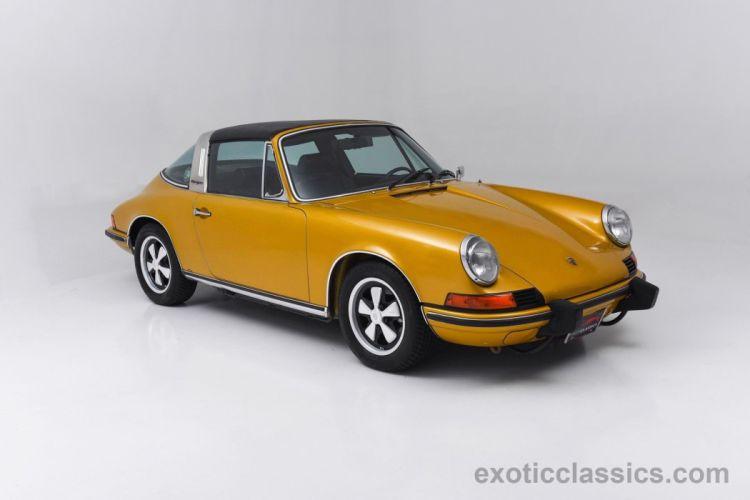 1973 Porsche 911-T Targa sportomatic Metallic Gold classic cars wallpaper