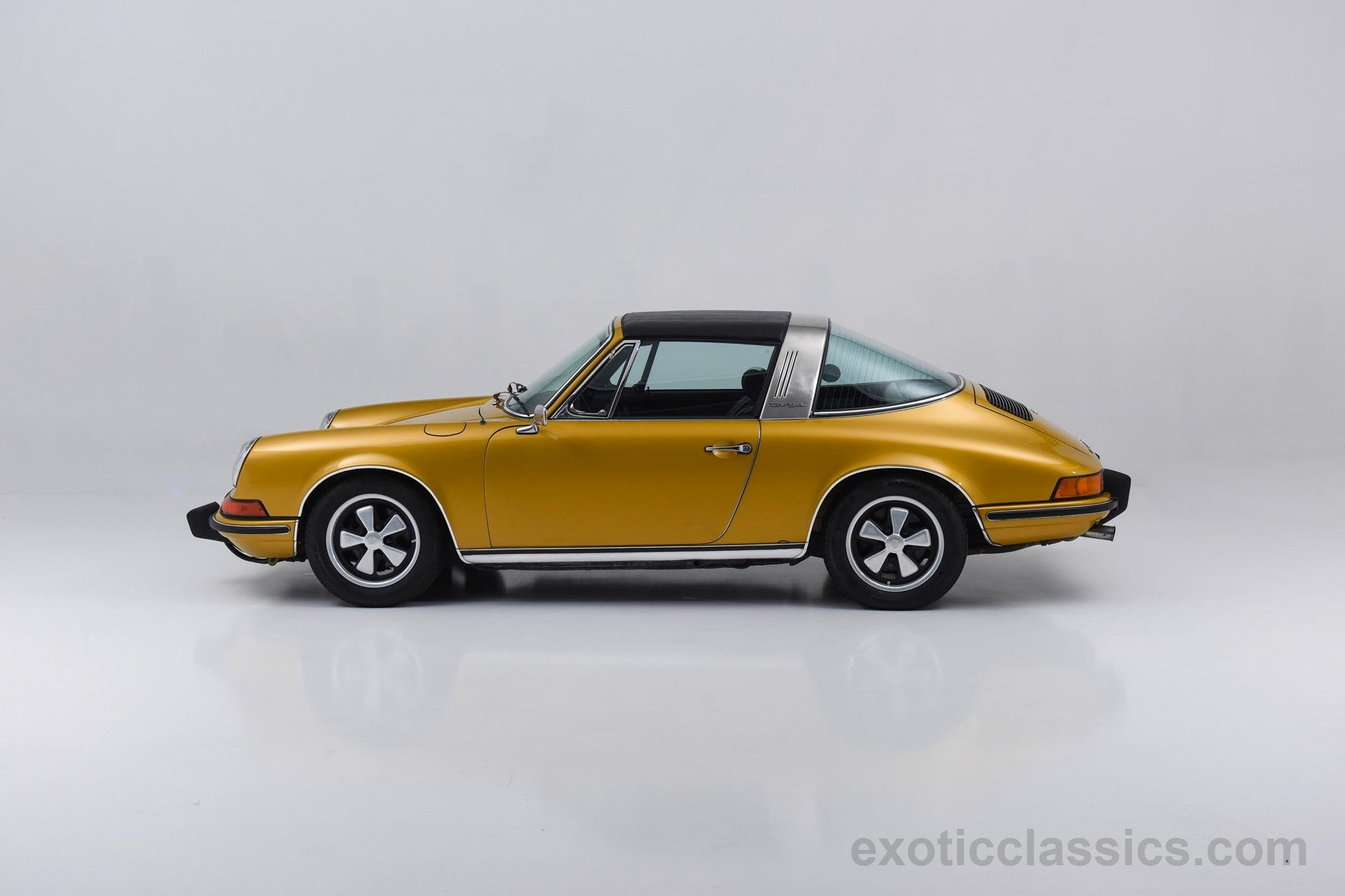 1973 Porsche 911 T Targa Sportomatic Metallic Gold Classic Cars Wallpaper 1920x1280 712171
