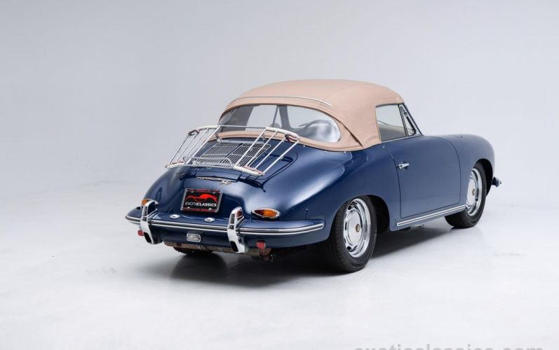 1965 Porsche 356-SC Cabriolet Bali Blue classic cars wallpaper