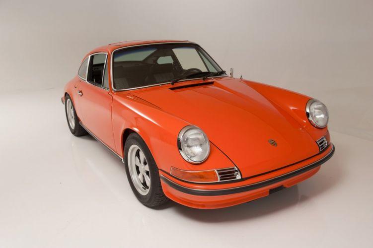 1968 Porsche 911-s Coupe ORANGE classic cars wallpaper