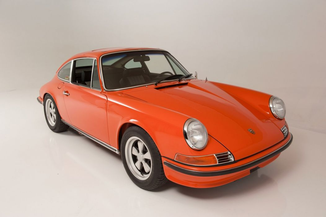1968 Porsche 911-s Coupe ORANGE classic cars wallpaper