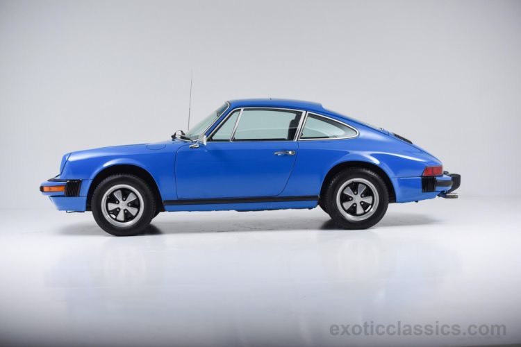 1976 Porsche 912-E Sunroof Coupe blue riviera classic cars wallpaper