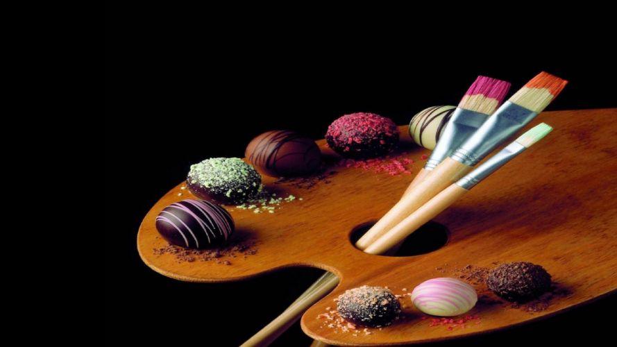arte pintura tablero colores pinceles wallpaper