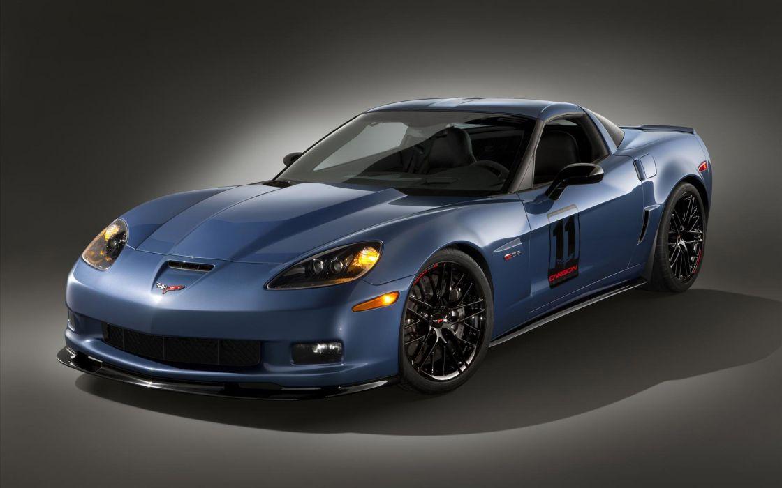 chevrolet corvette azul wallpaper