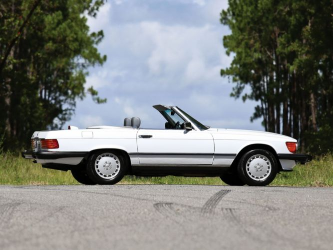 Mercedes Benz 560 SL US-spec R107 convertible 1985 cars classic wallpaper